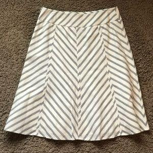 NWT Loft Chevron Stripe A-line Midi Skirt
